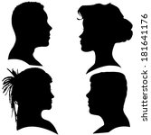 vector silhouettes of different ... | Shutterstock .eps vector #181641176