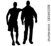 vector silhouettes of men who... | Shutterstock .eps vector #181641338