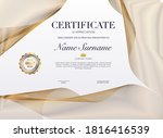certificate template with... | Shutterstock .eps vector #1816416539