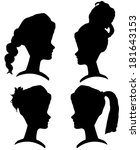 vector silhouettes of women... | Shutterstock .eps vector #181643153