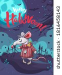 happy halloween funny cartoon...   Shutterstock .eps vector #1816458143