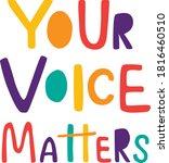 your voice matters   hand... | Shutterstock .eps vector #1816460510