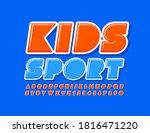 vector creative emblem kids... | Shutterstock .eps vector #1816471220
