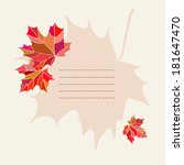 template design with maple... | Shutterstock .eps vector #181647470