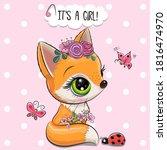 baby shower card cute woodland... | Shutterstock .eps vector #1816474970