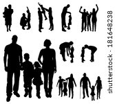 vector silhouette of a family... | Shutterstock .eps vector #181648238