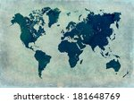 vintage world map background  | Shutterstock . vector #181648769