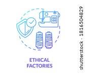 ethical factories blue gradient ... | Shutterstock .eps vector #1816504829