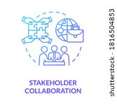 stakeholder collaboration blue... | Shutterstock .eps vector #1816504853