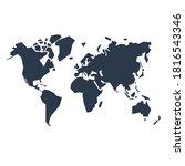 abstract dark world map... | Shutterstock . vector #1816543346