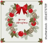 square merry christmas card ... | Shutterstock .eps vector #1816573709