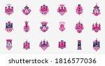 fortresses emblems vector... | Shutterstock .eps vector #1816577036