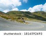 Mountain Landscape With A Curve ...