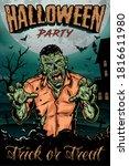 trick or treat halloween...   Shutterstock .eps vector #1816611980