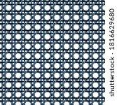 rattan weave seamless pattern... | Shutterstock .eps vector #1816629680