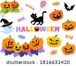halloween decoration and icon... | Shutterstock .eps vector #1816631420