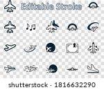 set of plane vector line icon.... | Shutterstock .eps vector #1816632290