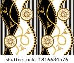 golden decorative baroque... | Shutterstock .eps vector #1816634576