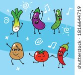 cute kawaii cartoon happy...   Shutterstock .eps vector #1816644719
