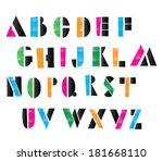 alphabet letters vector | Shutterstock .eps vector #181668110