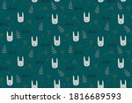 vector seamless repeating... | Shutterstock .eps vector #1816689593