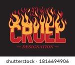 cruel designation slogan print... | Shutterstock .eps vector #1816694906
