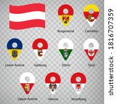nine flags the provinces of... | Shutterstock .eps vector #1816707359
