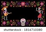 day of dead dia de muertos...   Shutterstock .eps vector #1816710380