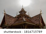 Ancient Wooden Roof On Buddhist ...