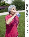 thirsty elderly person   Shutterstock . vector #181672589