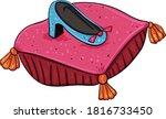 Royal Shoe On A Pillow....