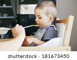child eating a meal | Shutterstock . vector #181673450