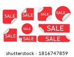 price tags  red banners. best...   Shutterstock .eps vector #1816747859