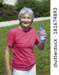 thirsty elderly person   Shutterstock . vector #181674893