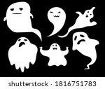 collection of eerie flying...   Shutterstock .eps vector #1816751783