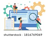 tiny people testing quality... | Shutterstock .eps vector #1816769069