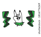 Punk Rock Hand Vector...