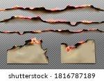burnt paper edges and parchment ... | Shutterstock .eps vector #1816787189