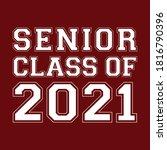 seniors class of 2021 vector  t ... | Shutterstock .eps vector #1816790396