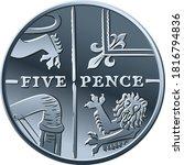 British Money Silver Coin Five...