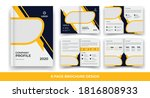 8 pages creative business... | Shutterstock .eps vector #1816808933