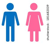 blue male and pink female sign... | Shutterstock . vector #181682039
