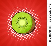 kiwi fruit in bright colorful... | Shutterstock .eps vector #1816823843