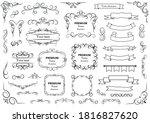 calligraphic design elements .... | Shutterstock .eps vector #1816827620