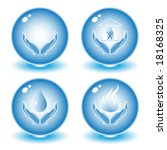 abstract internet icons. blue... | Shutterstock .eps vector #18168325