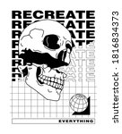 recreate everything slogan... | Shutterstock .eps vector #1816834373