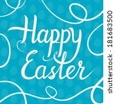easter greeting card. italic...   Shutterstock .eps vector #181683500