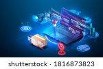 software development and... | Shutterstock .eps vector #1816873823