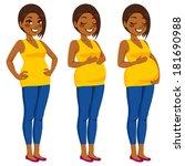 beautiful african american... | Shutterstock .eps vector #181690988
