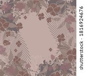 abstract silk scarf pattern... | Shutterstock .eps vector #1816924676
